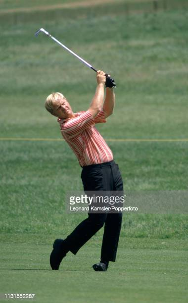 American golfer Jack Nicklaus in action circa 1970