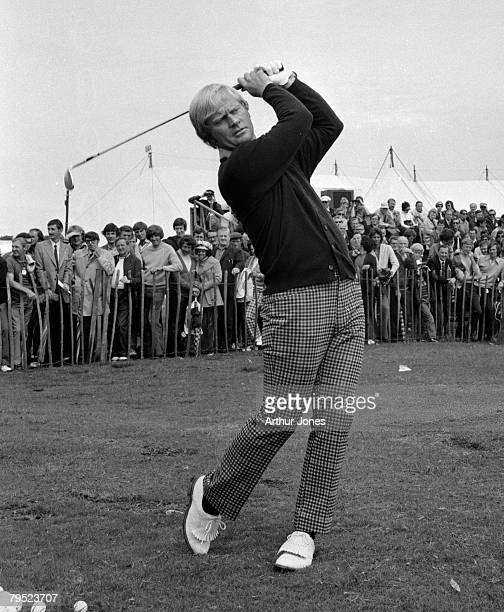 American golfer Jack Nicklaus in action during the British Open Championship at Troon golf course in Scotland 17th July 1973