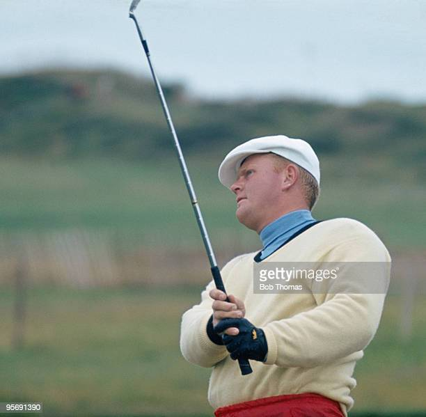 American golfer Jack Nicklaus in action during the British Open Golf Championship at the Royal Birkdale golf course in Southport July 1965