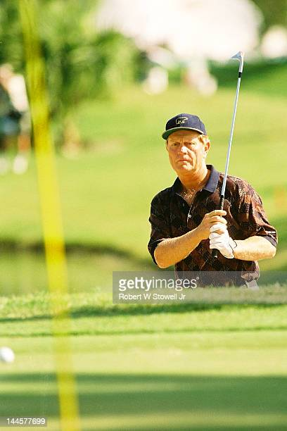 American golfer Jack Nicklaus on the course during the PGA Seniors' Championship at the PGA National Golf Club, Palm Beach Gardens, Florida, 1996.