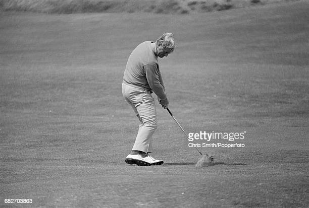 American golfer Jack Nicklaus pictured in action to win the 1970 Open Championship to become champion at the Old Course in St Andrews Scotland in...
