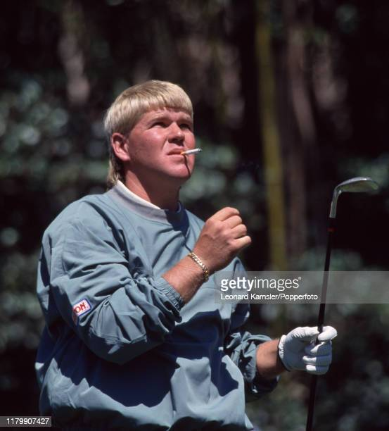 American golfer John Daly smoking a cigarette during the US Masters Golf Tournament at the Augusta National Golf Club in Georgia circa April 1996