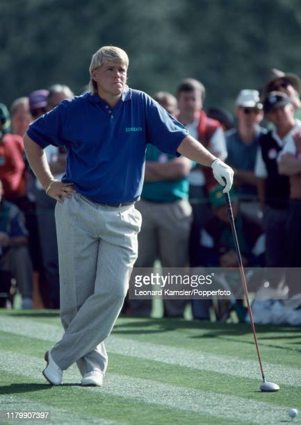 American golfer John Daly waits to tee off during the US Masters Golf Tournament at the Augusta National Golf Club in Georgia on 8th April 1993