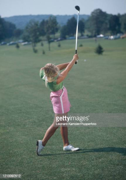 American golfer Laura Baugh circa February 1973 Image number 9 from a sequence of 10 This image is part of an instructional golf swing sequence To...
