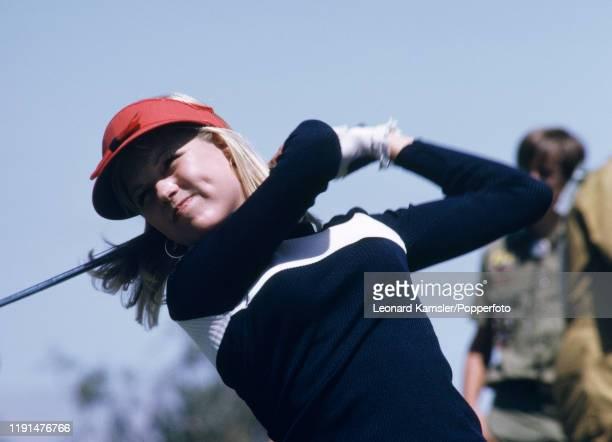 American golfer Laura Baugh in action circa 1974
