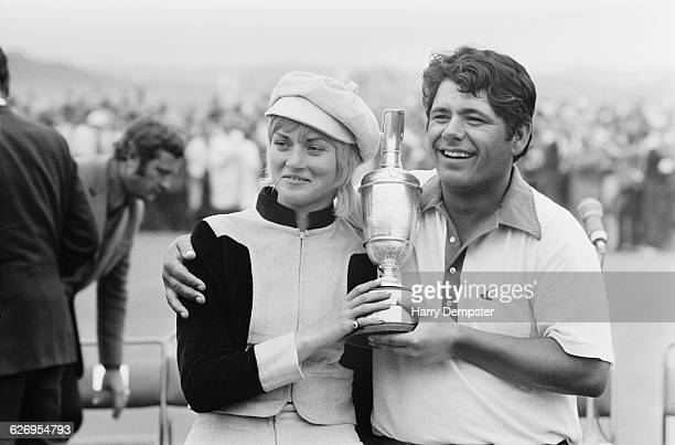 American golfer Lee Trevino wins the British Open Championship at the Royal Birkdale Golf Club in Southport England 11th July 1971 Here he poses with...