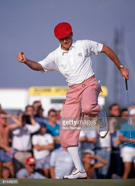 American golfer Payne Stewart during the British Open Golf Championship held at Royal Troon Scotland between the 20th 23rd July 1989