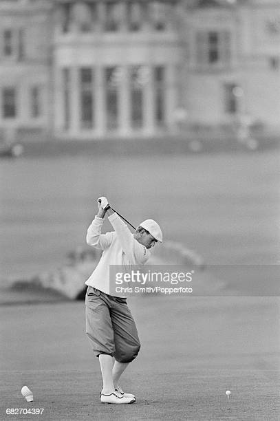 American golfer Payne Stewart pictured during action to finish in joint second place in the 1990 Open Championship at the Old Course at St Andrews in...