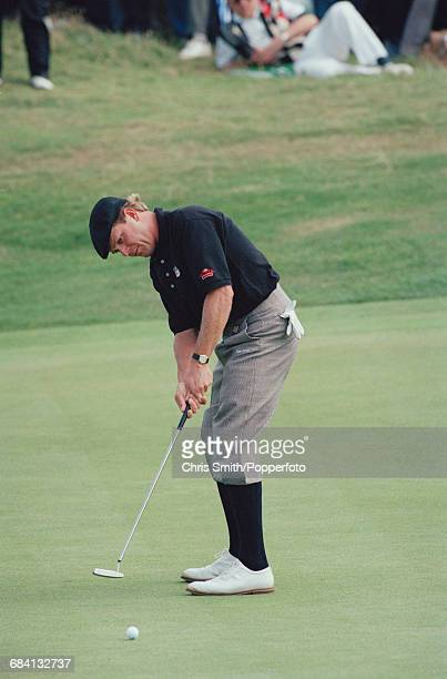 American golfer Payne Stewart pictured in action to miss the cut at the 1994 Open Championship at Turnberry Golf Resort in Scotland in July 1994