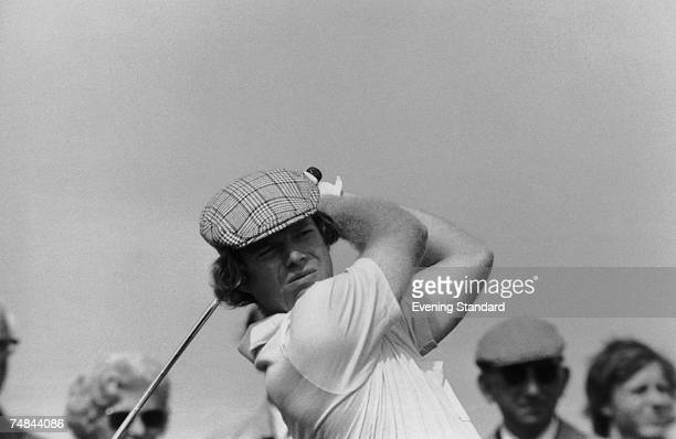 American golfer Tom Watson competing in The Open Championship at Carnoustie Golf Links Scotland 22nd July 1975 Watson was the eventual winner of the...