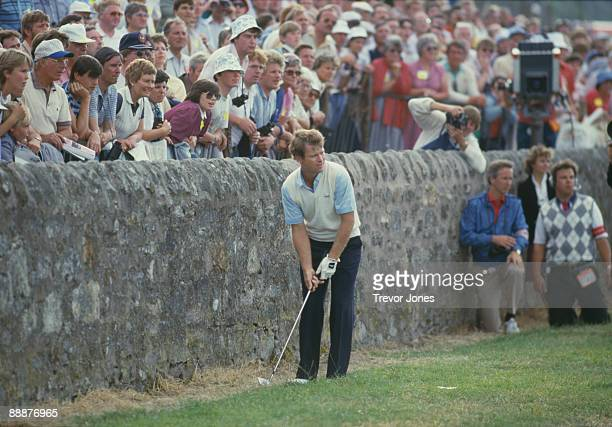 American golfer Tom Watson takes his third shot at the 17th hole during the final round of the British Open at the Old Course at St Andrews,...
