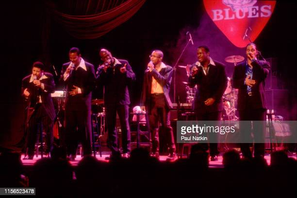 American Gospel and RB group Take 6 performs onstage at the House of Blues Chicago Illinois January 15 1997 The group includes Claude V McKnight III...