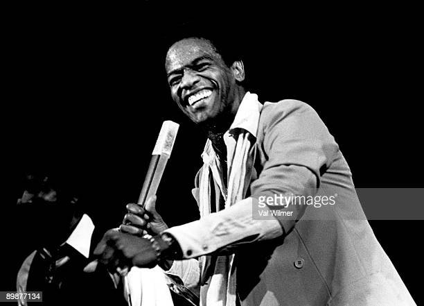 American gospel and soul singer Al Green in concert, circa 1970.