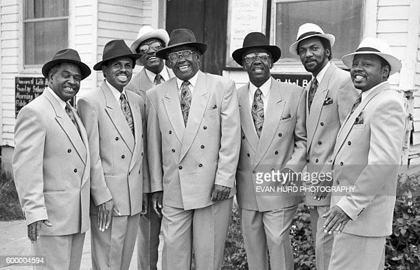 American Gospel band Zion Harmonizers performs at the New Orleans Jazz Heritage Festival