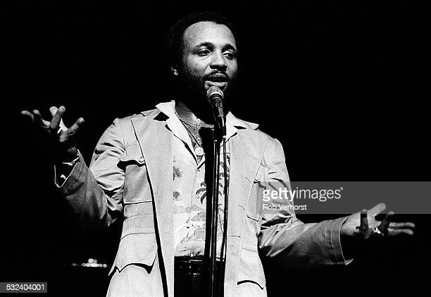 American gospel singer Andrae Crouch performs on stage at Congresgebouw Den Haag 18th March 1980