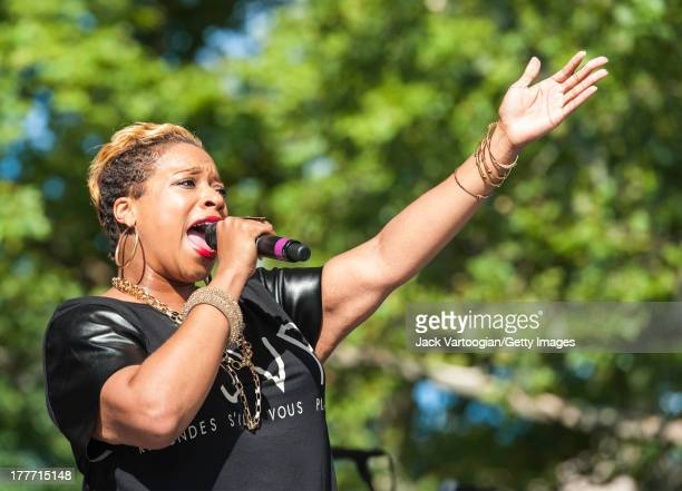American Gospel singer Kierra Sheard performs at the WLIB 6th Annual Gospel Explosion at Central Park SummerStage New York New York August 3 2013
