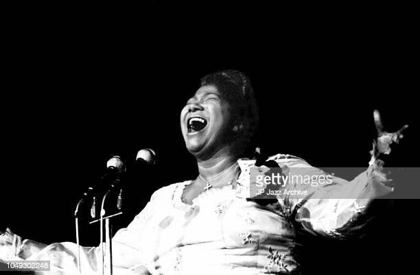 American gospel singer Mahalia Jackson Copenhagen Denmark April 1961