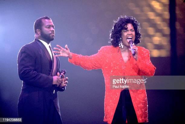 American Gospel singers BeBe and CeCe Winans perform onstage at the Rosemont Horizon Rosemont Illinois November 19 1993