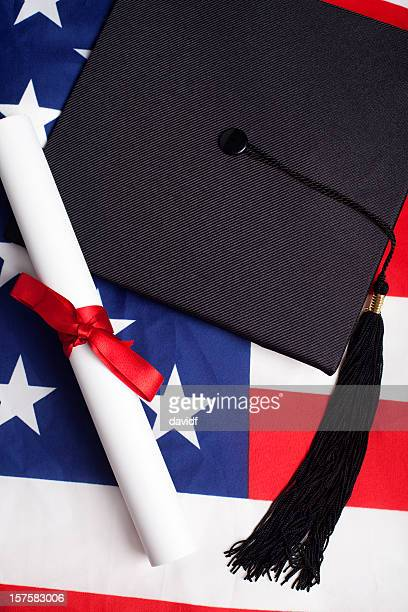 american graduation - graduation background stock pictures, royalty-free photos & images