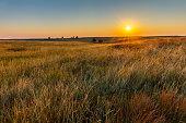 American Great Plains Prairie at Sunrise
