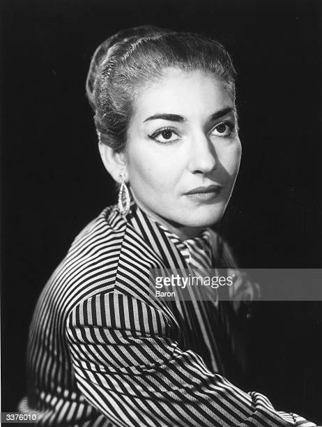 American Greek operatic soprano Maria Meneghini Callas .