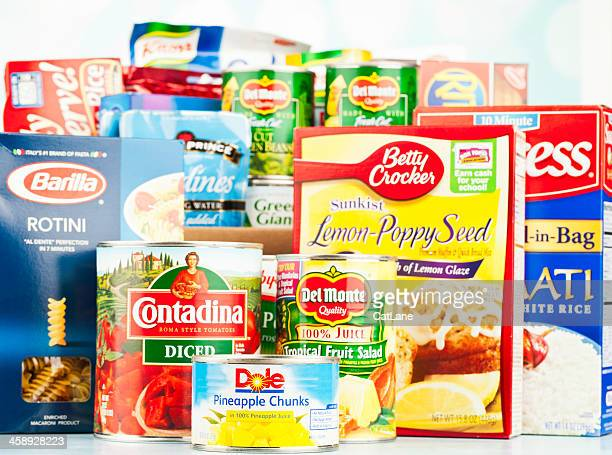 American Grocery Assortment For Food Drive