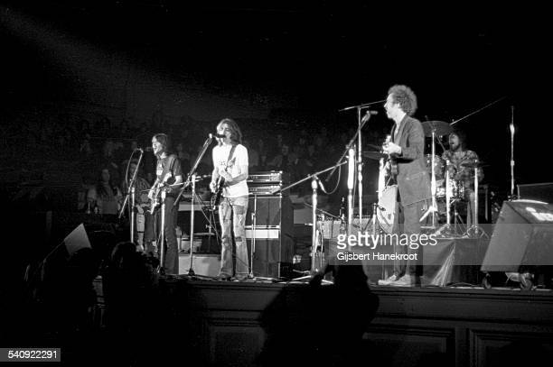 American group Eagles perform live on stage at Concertgebouw in Amsterdam, Netherlands in 1972. Left to right: Randy Meisner, Glenn Frey and Bernie...