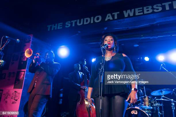 American group Ranky Tanky performs on stage during GlobalFest 2017 on the Studio Stage at Webster Hall New York New York January 8 2017 Pictured are...