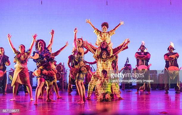 American group the Bambara Drum and Dance Ensemble perform 'Unchained' at DanceAfrica 2015: Brazilian Rhythms African Roots at the BAM Howard Gilman...