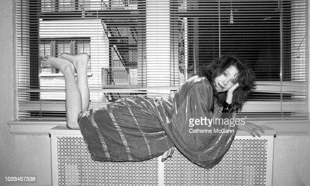 American groupie and author Pamela Des Barres poses for a portrait on June 17 1987 in New York City New York