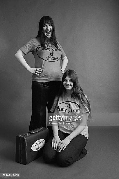 American groupie duo Dianne and Cynthia also called the Plaster Casters pose for a portrait at the Michael Mauney Studio in Chicago IL January 1969
