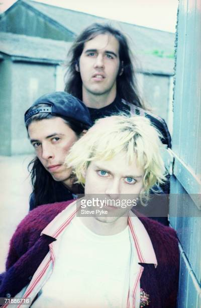 American grunge band Nirvana early 1990s From the top bassist Krist Novoselic drummer Dave Grohl and singer Kurt Cobain