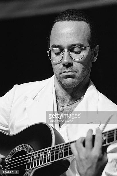 American guitarist Al Di Meola performs live on stage at the North Sea Jazz Festival in the Hague, Netherlands on 14th July 1989.
