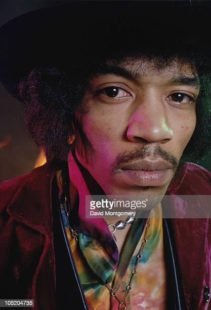 American guitarist and singer Jimi Hendrix photographed for his album 'Electric Ladyland' London 1968