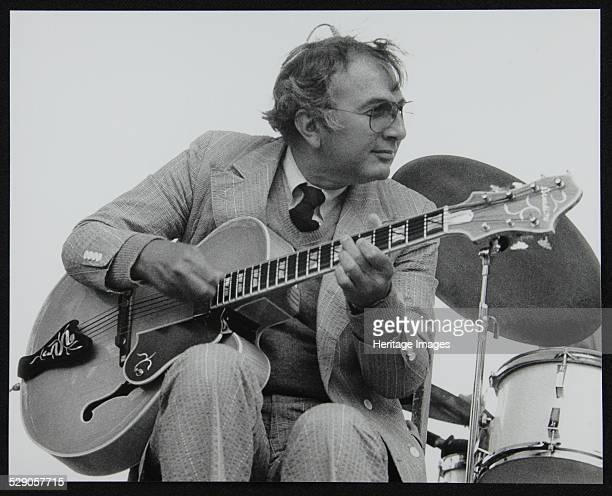 American guitarist Bucky Pizzarelli on stage at the Capital Radio Jazz Festival Alexandra Palace London 1979 Artist Denis Williams