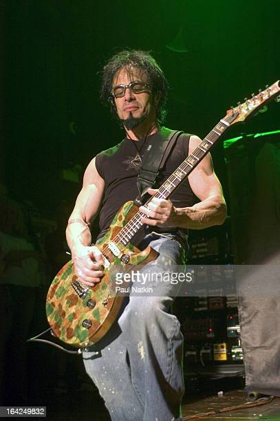 American guitarist Dan Spitz of the band Anthrax performs on stage at the House of Blues, Chicago, Illinois, May 1, 2005.