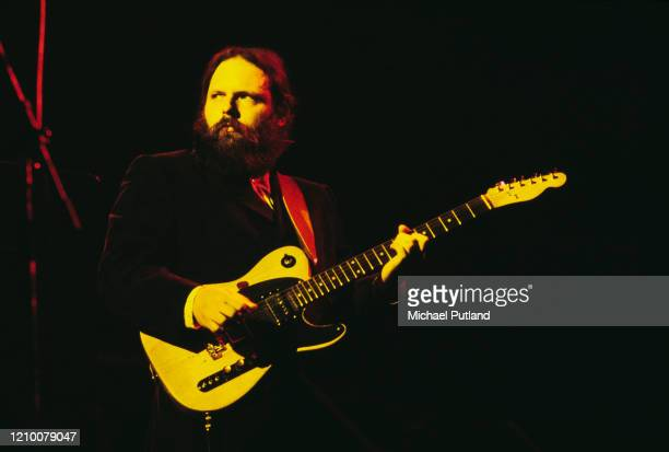 American guitarist Denny Dias performs live on stage with rock group Steely Dan at the Rainbow Theatre in London on 21st May 1974