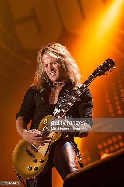 American guitarist Doug Aldrich of Whitesnake performing live onstage during the Marshall 50 Years Of Loud anniversary concert at Wembley Arena...
