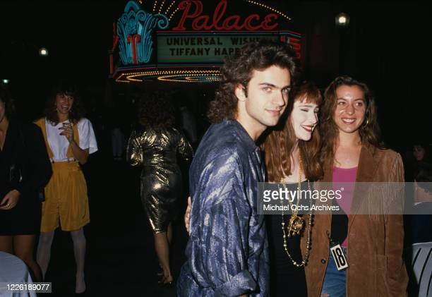 American guitarist Dweezil Zappa, American singer Tiffany Darwish, and American actress Moon Unit Zappa attend the 18th birthday celebrations of...
