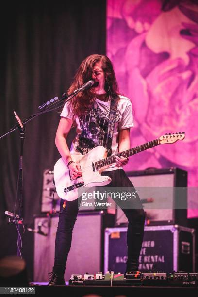 American guitarist Gina Gleason of Baroness performs live on stage during a concert in support of Volbeat at Lanxess Arena on November 14 2019 in...