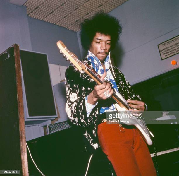 American guitarist Jimi Hendrix of The Jimi Hendrix Experience in a London recording studio October 1967