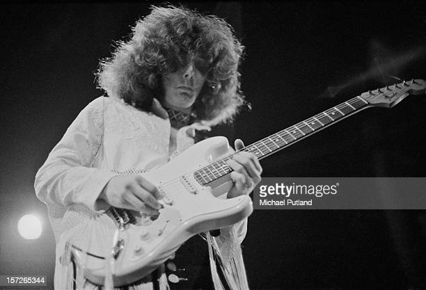 American guitarist Larry Reinhardt performing with rock group Captain Beyond at the Roundhouse, Camden, London, 4th May 1972.