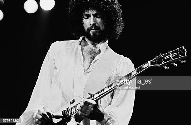 American guitarist Lindsey Buckingham performing with Fleetwood Mac at Nassau Coliseum Uniondale New York 26th March 1977