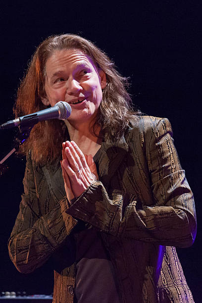 Robben ford in concert at cafe de la danse american guitarist robben ford acknowledges applause during his concert at cafe de la danse on april voltagebd Choice Image