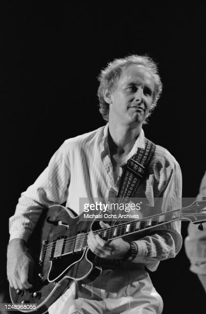 American guitarist Robby Krieger at a Welcome Home benefit concert for Vietnam veterans, USA, circa 1986.