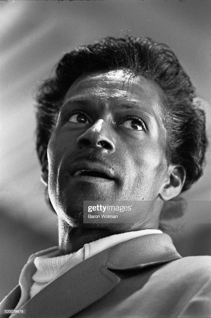 American guitarist, singer and songwriter, and one of the pioneers of rock and roll music Chuck Berry, Berkeley, CA, May 1969. This photograph was used as the front cover image of the Rolling Stone magazine for Issue No. 35, published on June 14th, 1969.