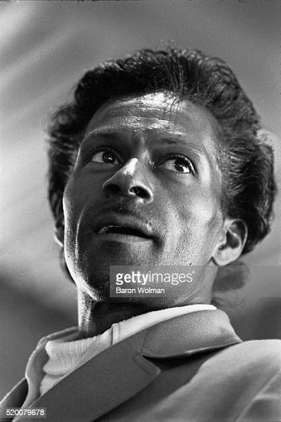 American guitarist, singer and songwriter, and one of the pioneers of rock and roll music Chuck Berry, Berkeley, CA, May 1969. This photograph was...