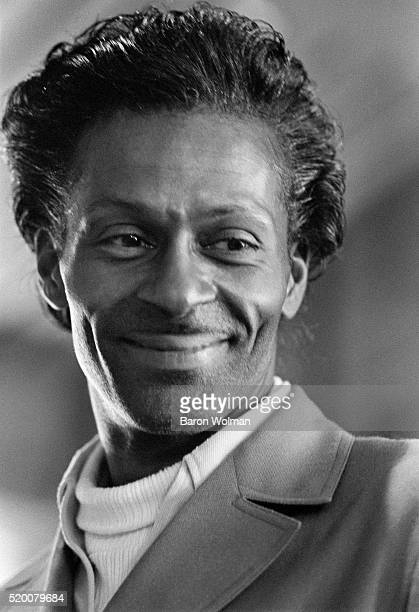 American guitarist, singer and songwriter, and one of the pioneers of rock and roll music Chuck Berry, Berkeley, CA, May 1969.