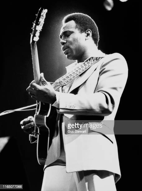 American guitarist singer and songwriter George Benson performing on stage circa 1970