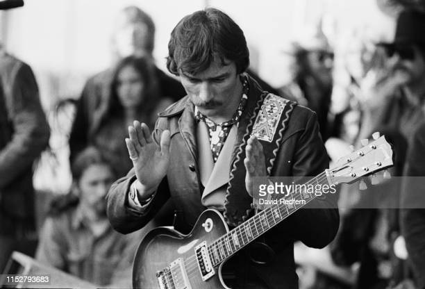 American guitarist singer songwriter and composer Dickey Betts of The Allman Brothers Band at Tampa Stadium Tampa US 9th December 1973